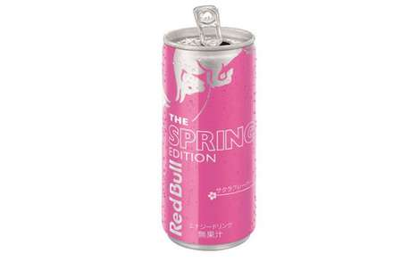 Cherry Blossom Energy Drinks - Red Bull is Honoring Cherry Blossom Season with The Spring Edition
