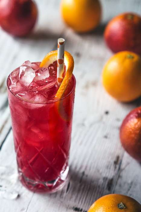 Regional Cocktail Juices - The Italian GaribaldiI Drink Has Fresh Squeezed Blood Orange and Campari