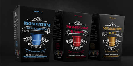 Chalkboard Coffee Pod Branding - The Packaging for MOMENTUM Pods are Inspired by Blank Canvases