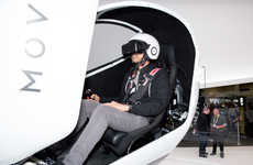 Free-Rotation VR Pods - The Rotating Krush Moveo Simulation Pod is Showing Off At CES 2016