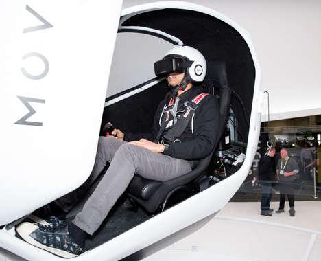 Free-Rotation VR Pods