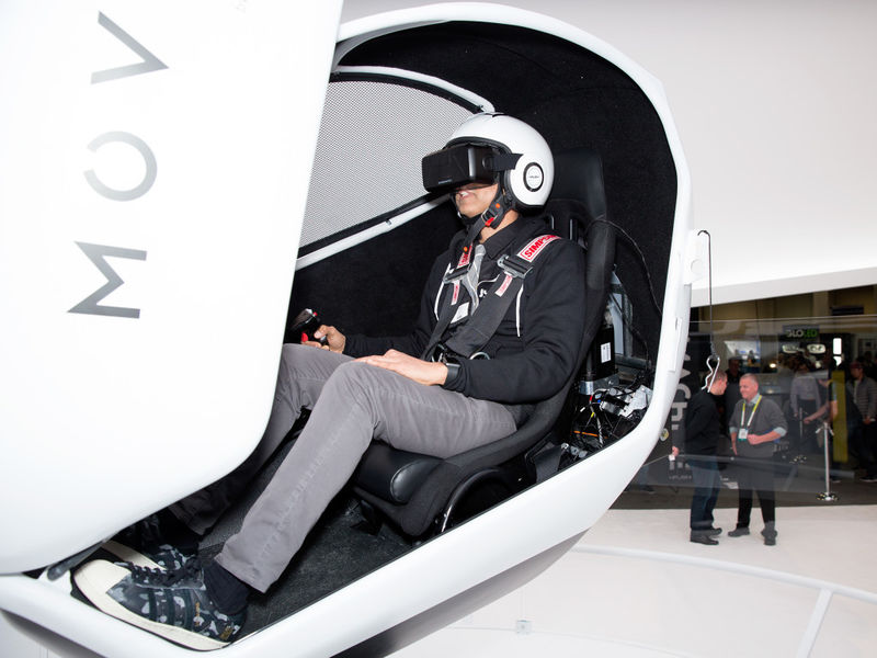 Free-Rotation VR Pods