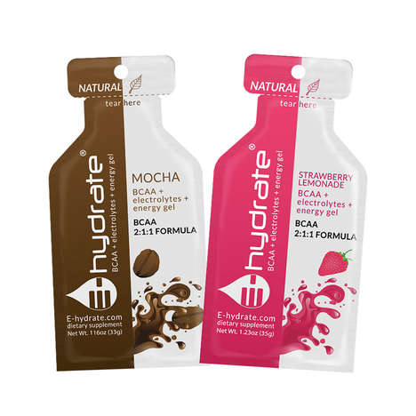 Energizing Electrolyte Gels - The E-hydrate BCAA+ Energy Packets Offer a Natural Boost of Vitality