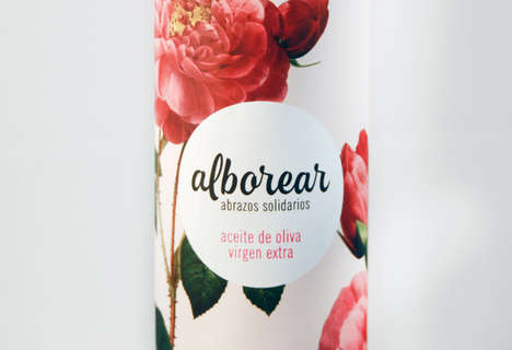 Feminine Olive Oil Packaging - Alborear is a Product Supporting Women with Breast Cancer