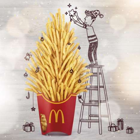 Festive Fast Food Illustrations - McDonald's Organzied a Creative Instagram Feed for Christmas