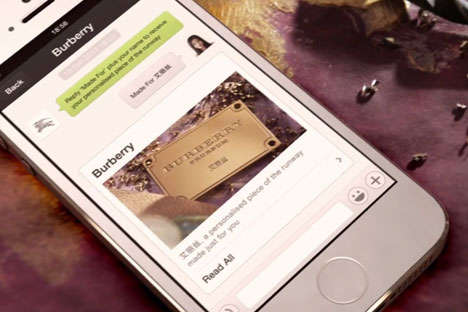 Personalized Digital Gift Wrap - The Burberry WeChat Account Was Launched Ahead of Lunar New Year