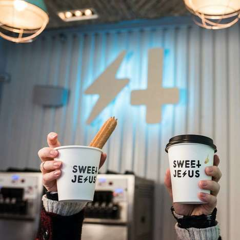 Hybrid Dessert-Coffee Bars - Sweet Jesus is a Toronto Ice Cream and Coffee Parlor with Style
