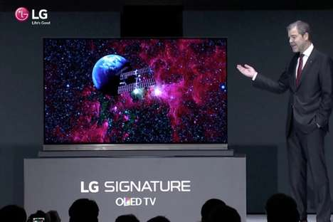 Razor-Sharp TVs - The LG Signature G6 TV is Seen at CES 2016 as One of the World's Thinnest TVs