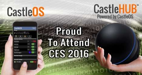 Voice-Controlled Home Hubs - The 'CastleHUB' by 'CastleOS' Made Its Debut at CES 2016