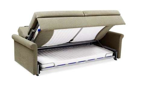 Bunkbed Seating Solutions - The 'Slumbersofa Duo' Sofa Bed Couch Transforms into Bedroom Furniture