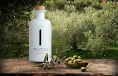 Premium Greek Oil Packaging - 'PROTON' Premium Olive Oil is Encased in a Ceramic Bottle