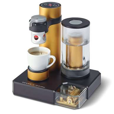 Musical Espresso Makers - The Swiss-Made Music Box Espresso Machine Plays Music and Makes Coffee