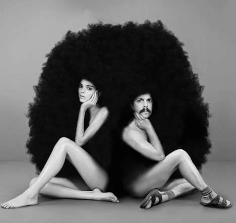 Hilariously Photoshopped Model Shots - Kirby Jenner Includes Himself in Kendall's Fabulous Life