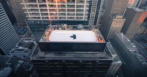 Rooftop Ice Rinks - Molson Canadian's Anything for Hockey Campaign is Epically Canadian