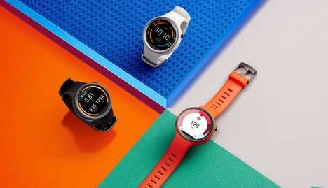 Vibrant Sporty Smartwatches - The Motorola Moto 360 Sport is Fit for Fitness Fans
