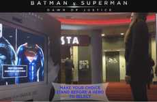 AR Superhero Displays - This Augmented Reality Mall Stunt Promotes the Batman vs. Superman Film