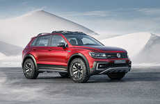 Hybrid Adventurer Vehicles - The Volkswagen Tiguan GTE Active Concept is a Powerful Off-Road SUV