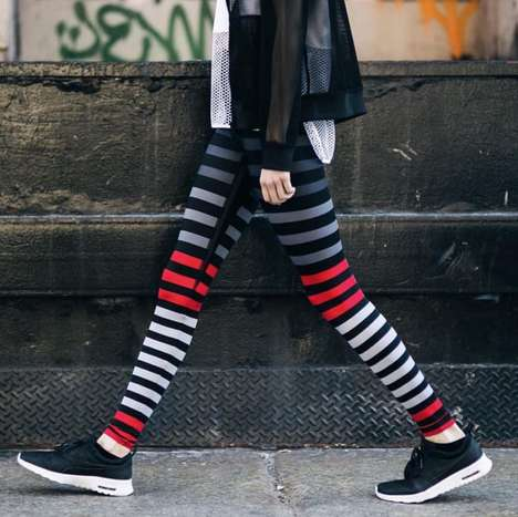 Fashionable High-Performance Leggings - K-DEER's Stylish and Eco Fitness Gear Improves Performance