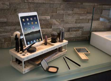 Beauty Tutorial Vanities - The iSkelter Makeup Station is Optimized for YouTube Makeup Tutorials