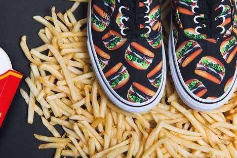 Hunger-Inducing Sneakers - Vans' New 'Late Night' Pack is Accented with Fast Food Graphics