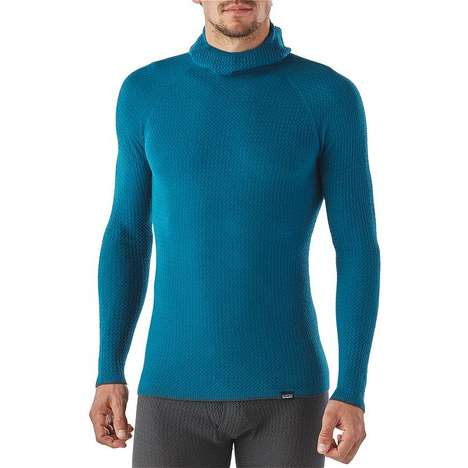 Lightweight Yarn Activewear - The Patagonia Men's Merino Air Hoody is Blended With Capilene Fiber