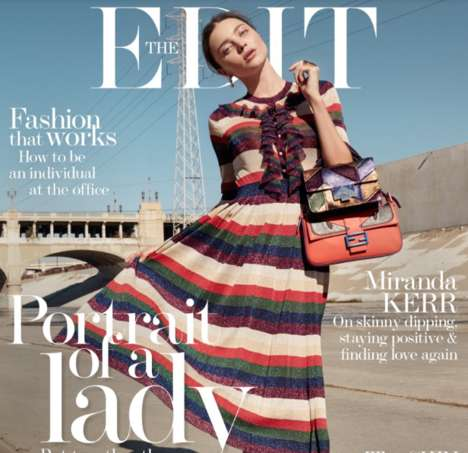 Chic Underpass Editorials - The Edit Miranda Kerr Photoshoot is Elegantly Urban