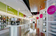 Wine Discovery Stores - This Winestore Features Clever Signage and an Interactive Tasting Station