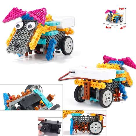 Educational Modular Robots - The Unigear Building Block Toy Robot Teaches Robotics and Construction