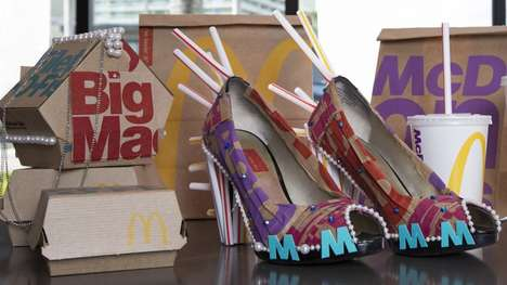 Fast Food Packaging Fashions - The New Packaging at McDonald's was Reworked into Couture Accessories