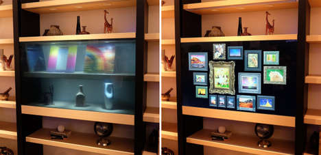 Transparent TV Screens - The Panasonic Transparent Display Debuted at This Year's CES 2016 Event