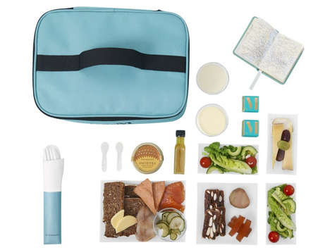 Luxe Pre-Made Airline Meals - These Kits Called Hamperlings are Designed for Mid-Air Caviar Cravings