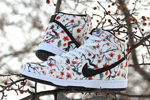 These Nike Shoes Feature a Striking Cherry Blossom Design