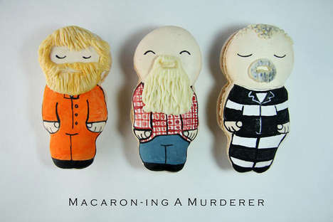 Documentary Character Macarons - These Biscuits are Shaped Like Steven Avery from Making a Murder