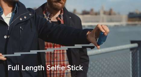 Selfie Stick Smartphone Cases - The Stikbox is a Cellular Case Design with a Extendable Selfie Stick