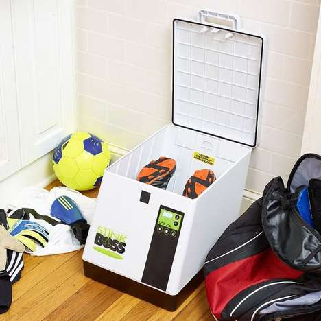 Deodorizer Sneaker Dryers - The StinkBOSS is an Antibacterial Device for Cleaning Sport Footwear