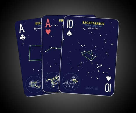 Zodiac Playing Cards - This Set of Cards Features Prints of Constellations in the Night Sky