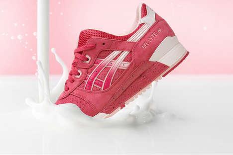 Romantic Dessert Sneakers - The ASICS GEL-Ltye III Valentine's Day Shoes Look Like Strawberries