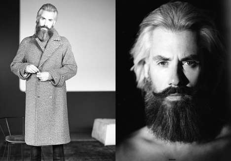 Bearded Gentleman Editorials - Alexandre Schuster is Expertly Groomed in This Elegant Editorial