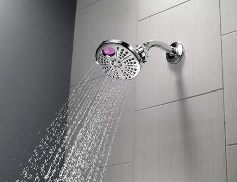 Custom Temperature Shower Heads - The Delta 'Temp2O' Digital Shower Head Enables Customized Bathing