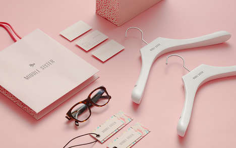 Sublime Fashion Branding - Middle Sister's Brand Identity is Showcased in a Palette of Pastel Pinks