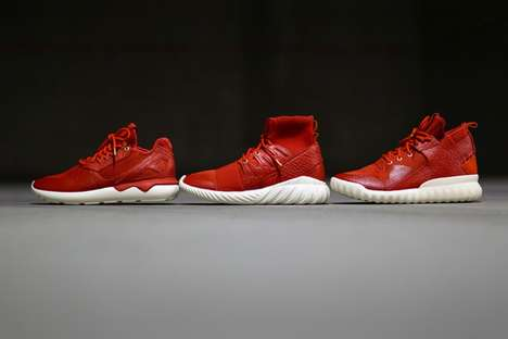 Chinese Celebration Sneakers - Adidas Tubular Sneakers are Given a New Look for Chinese New Year