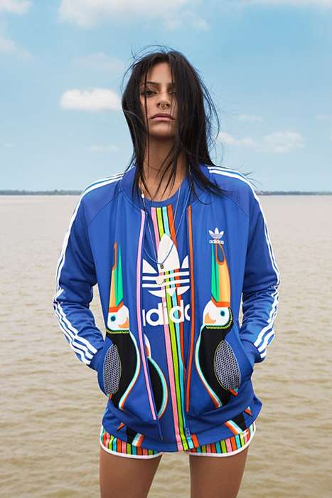 Tropical Sportswear Collections - The Farm Company Has Teamed with Adidas for Another Exotic Lineup