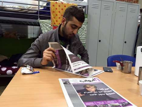 Informative Refugee-Targeted Newspapers - This Arabic-Language Newspaper is Intended for Refugees