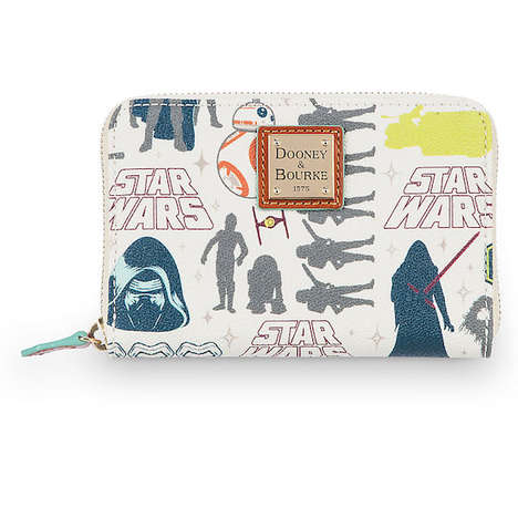 Luxe Sci-Fi Totes - The Dooney & Bourke Bags Feature Drawings of Popular Star Wars Characters