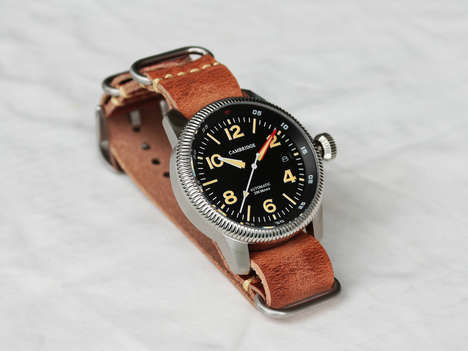 Sleek Aviation Watches - The Cambridge Watch Co Spitfire Watch is Inspired by a WWII Aircraft