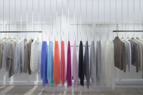 Gradient Apparel Merchandising - The Elgin Flagship Store is Organized by Color and Texture