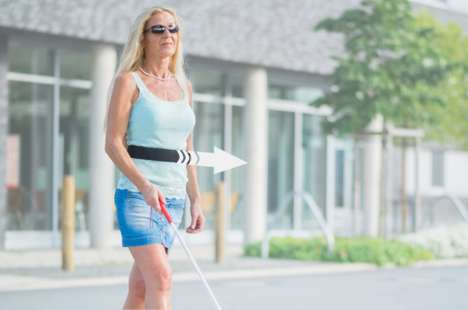 Blind-Assisting Navigation Belts - This Smart Belt Uses Vibrations to Guide the Visually Impaired