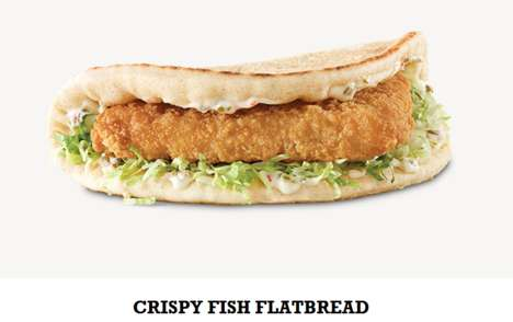 Fish-Filled Flatbread Sandwiches - These 'Crispy Fish' Sandwiches Offer a Healthy Fast Food Option