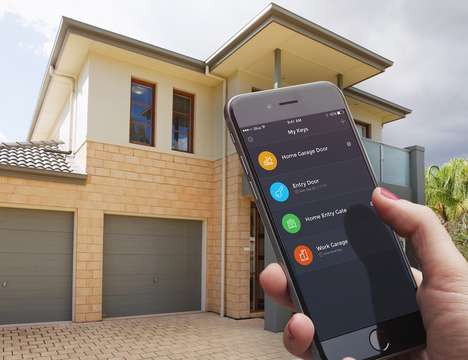 Bluetooth-Enabled Garages - The iBlue Smart Gate Connects Seamlessly to Devices for Easy Access