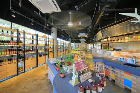 Organic Supermarket Interiors - 'The Green Atrium' Embodies the Kind of Lifestyle It Promotes
